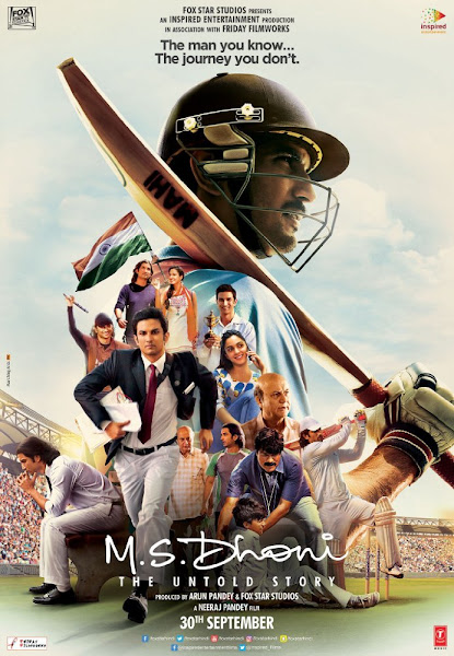 Poster Of M.S. Dhoni The Untold Story 2016 720p Hindi HDRip Full Movie Download