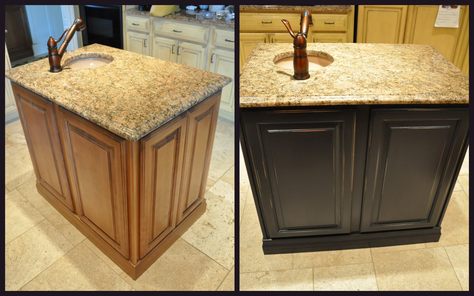 painted kitchen islands mission style hardware island reveal evolution of