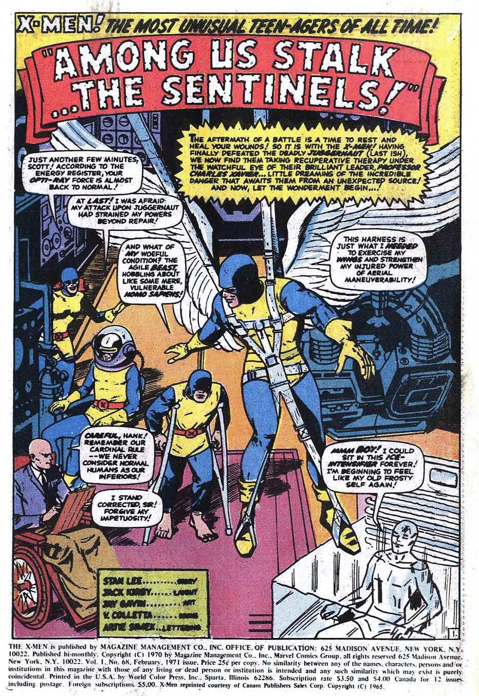 Uncanny X-Men (1963) 68 Page 2