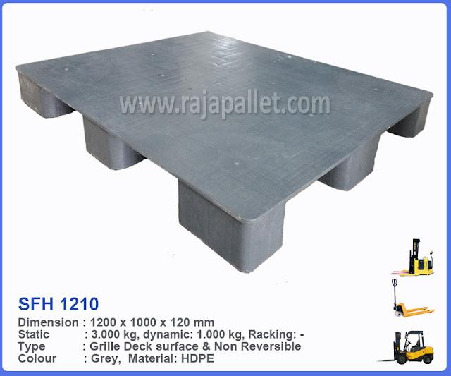 Jual Pallet Plastik SFH1210 Flat Ukuran 120 x 100 x 12 cm