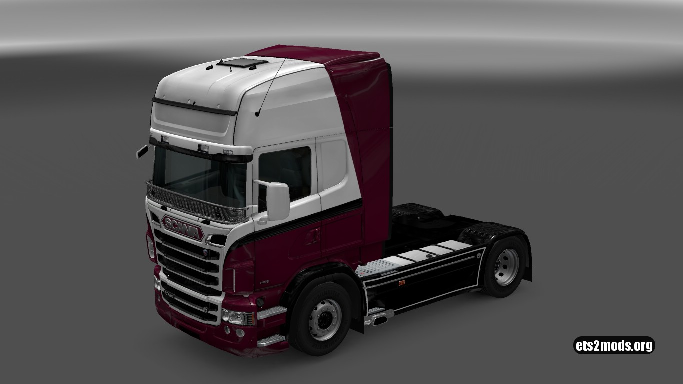White & Purple Skin for Scania RJL