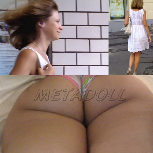 Upskirts 3351-3373 (Public upskirt voyeur - Sexy upskirt view with sweet girls on an escalator)