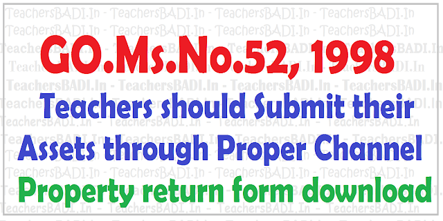 TS Teachers,assets.Property return form,GO.52