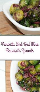 These pancetta and red wine brussels sprouts are a real treat for a festive meal. They are coated in a sweet and sticky red wine and garlic sauce.