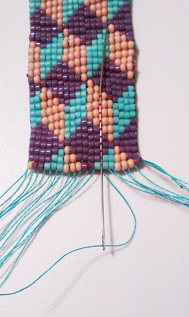 great tip on how to finish loom bracelets the beading