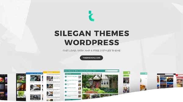 Silegan Themes - dengan Fitur Full AMP Pages + 9 Style