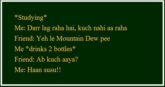 student jokes, dar lag raha hai kuchh nahi aa raha....