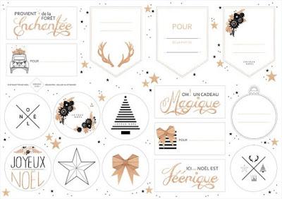 Christmas gift tag Etiqueta Navidad ouiouioui studio