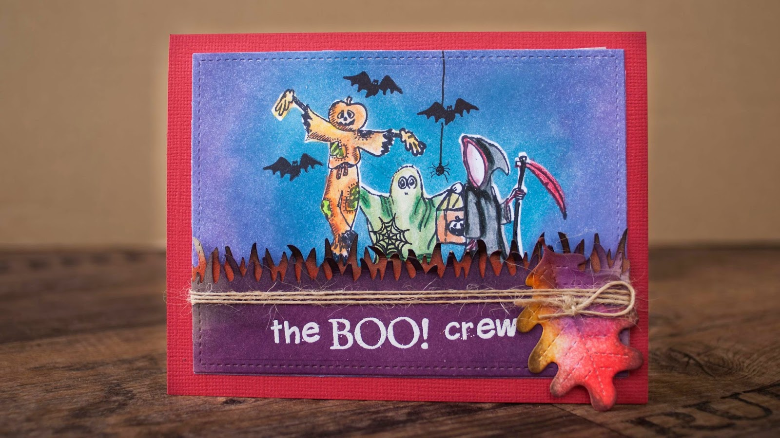 Halloween card #2 2014- the boo crew - tree friends out trick and treating front
