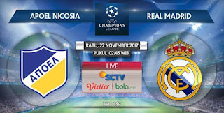 Prediksi APOEL vs Real Madrid - Grup G Liga Champions