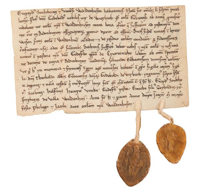 Urkunde des Godebold von Weierbach aus Wallhausen.