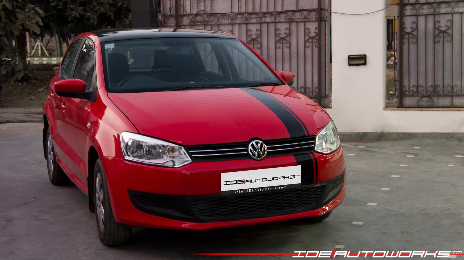 Vw Polo With Racing Stripes Ide Autoworks