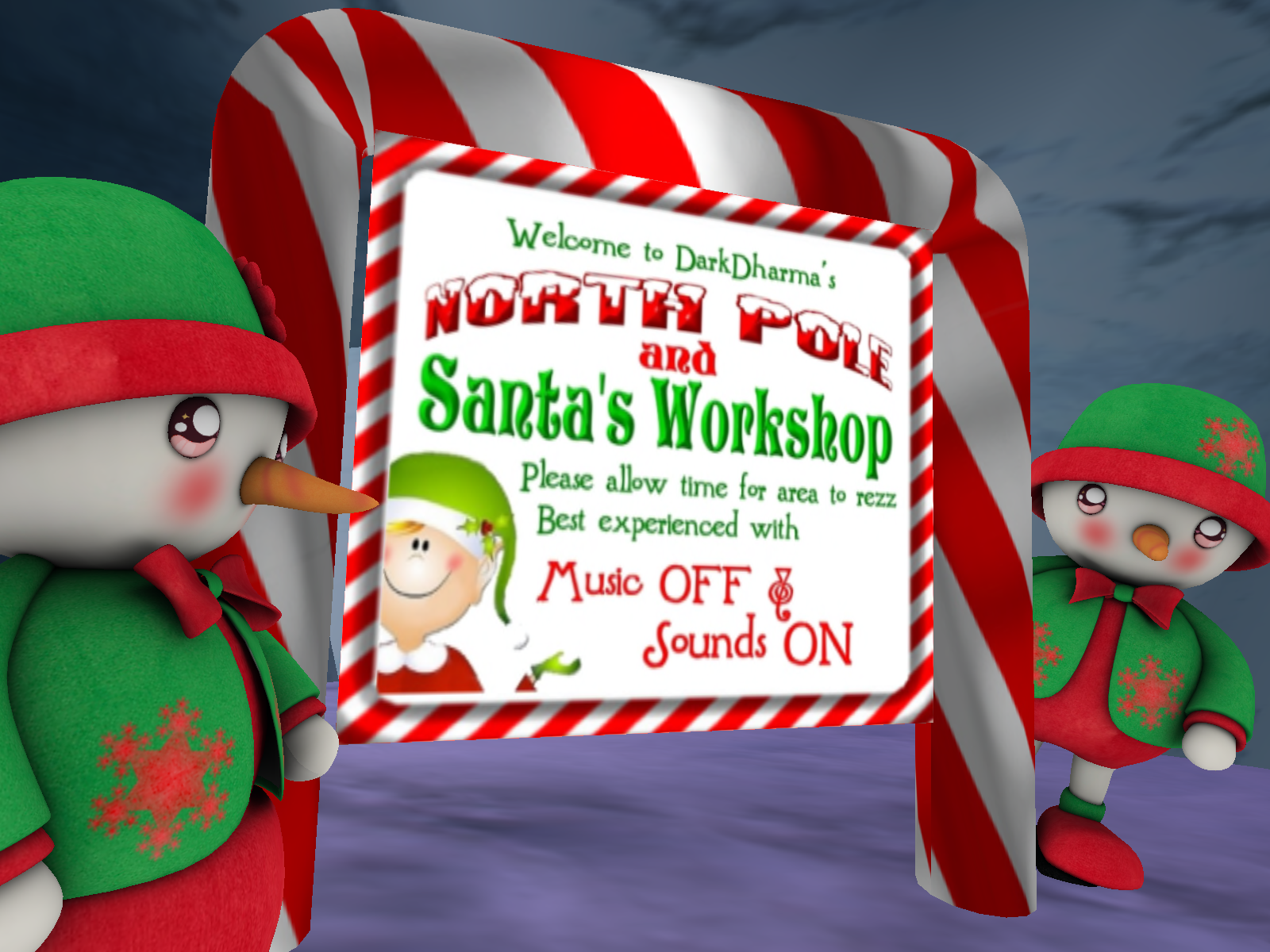 Second Life Christmas Sims Worth Seeing - Part 2- A review of Dark ...