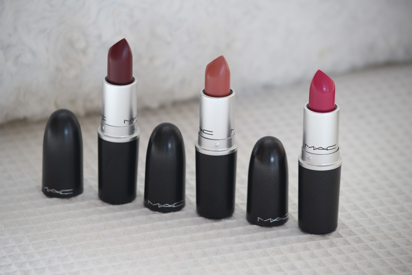 The Lipstick Edit  MAC Channel Reviews Velvet Teddy Diva Girl About Town