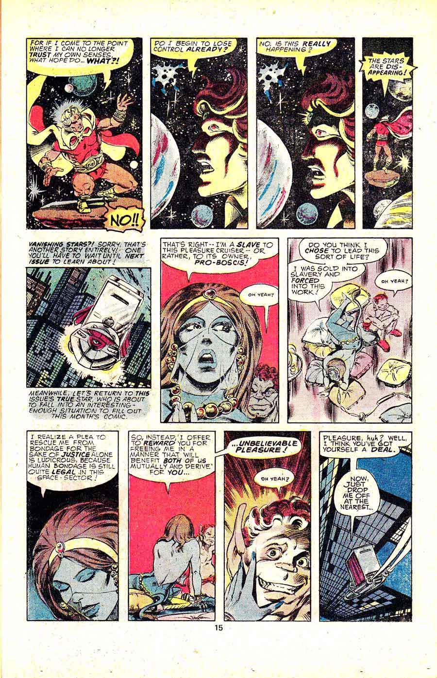 Warlock v1 #12 marvel 1970s bronze age comic book page art by Jim Starlin