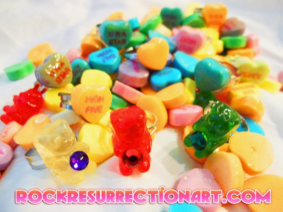 Non-Edible Candy Charms made from real candy