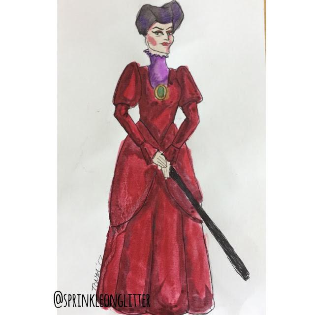 Sprinkle on glitter blog// 31 days of Disney// lady tremaine