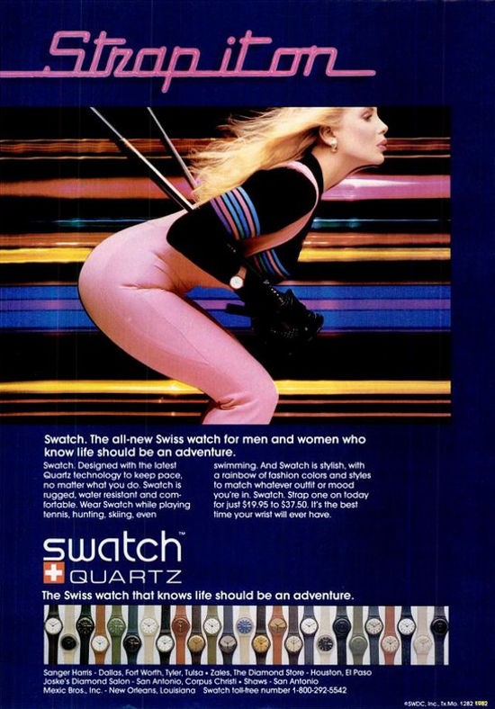 Swatch advertising 1982