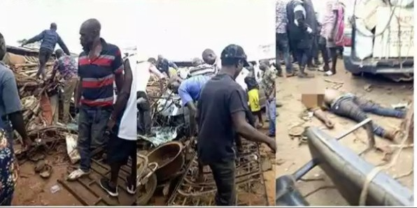 Many feared dead as trailer smashed bus, tricycles in Onitisha
