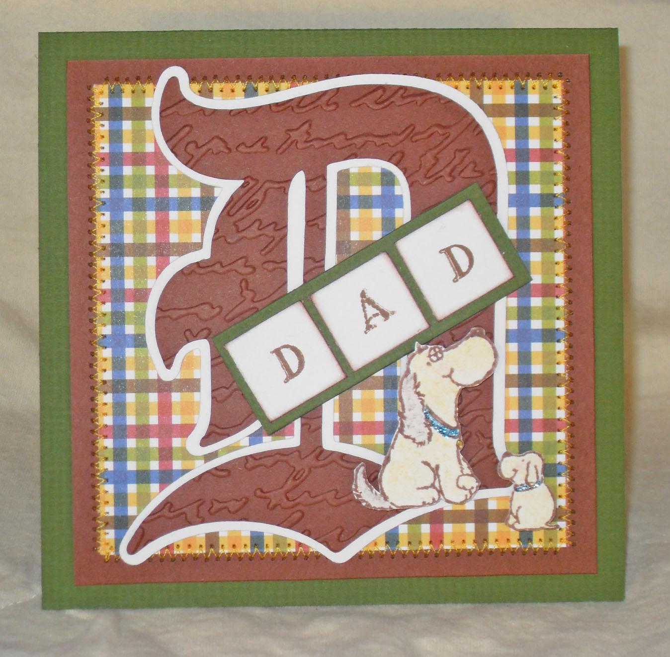 Lisa S Tool Time Father S Day Card: DZ Doodles Digital Stamps: DZ Doodles; Crochet Embellished