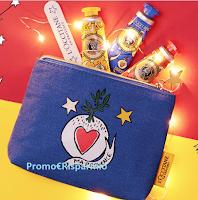 Logo Trousse Castelbajac Paris + trio crema mani e limaunghie in regalo da L'Occitane