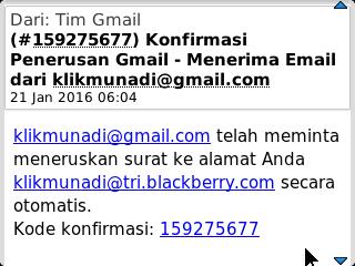 Konfirmasi Penerusan Gmail