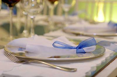 1 Detalhes de um casamento em azul e branco...