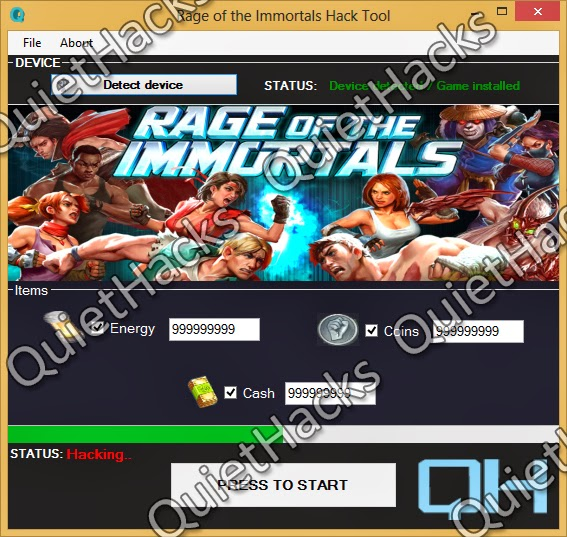 How to Hack Rage of the Immortals (Coins, Cash Energy ...