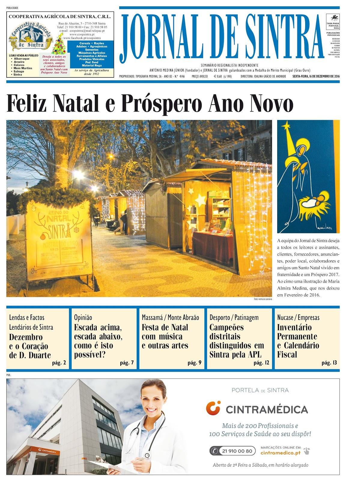 Capa da edição de 16-12-2016