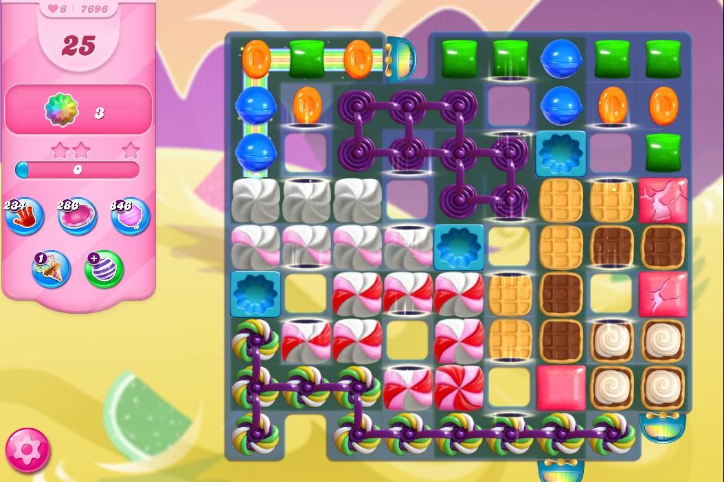 Candy Crush Saga level 7696
