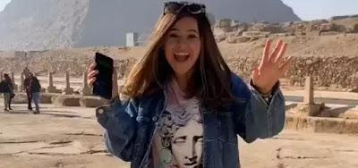 o Egito, Maisa Silva rebola ao som de É o Tchan na frente das pirâmides
