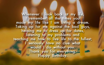 Happy Birthday wishes quotes for husband: whenever i look back at my life,