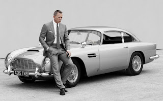 Aston Martin DB5 and James Bond 007