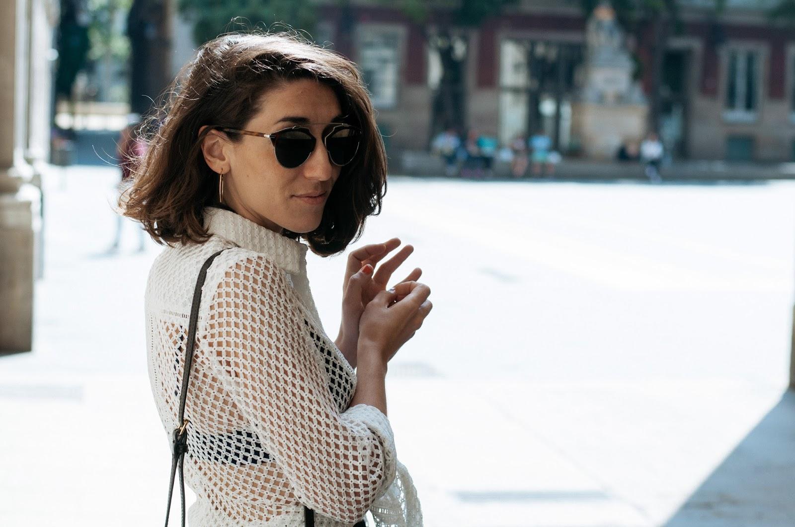 Camisa y sandalias Asos, culotte H&M, gafas de sol Dior