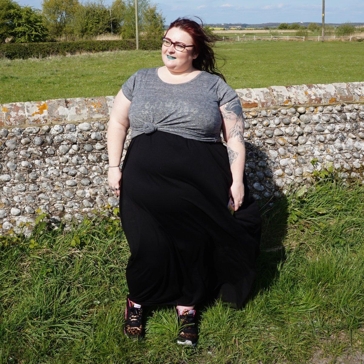 ASOS-Curve-hareem-drape-dress-witchy-boho-gothic-oversized // WWW.XLOVELEAHX.CO.UK