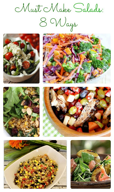 Must make salads 8 different ways perfect for pot lucks