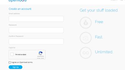 Como crear una cuenta en Openload