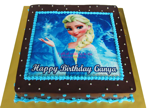 Birthday Cake Edible Image Disney Frozen