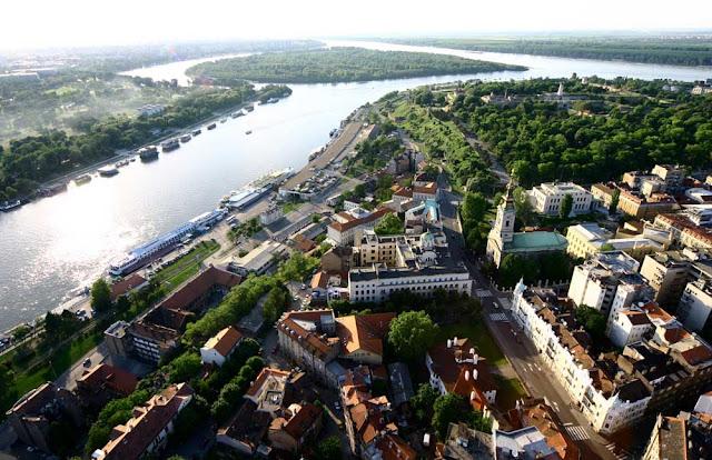 Vista aérea de Belgrado - Sérvia