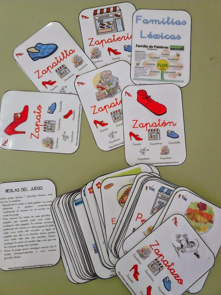 Club de ideas juego de cartas de familias de palabras for Caja de colores jardin infantil