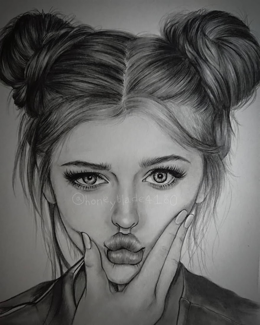 09-Loren-Gray-YU Pencil-Portrait-Drawings-of-Celebrities-and-Non-www-designstack-co