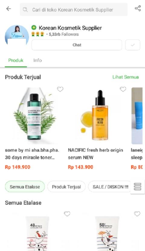 Korean Kosmetik Supplier Sebagai Toko Terlaris di Shopee