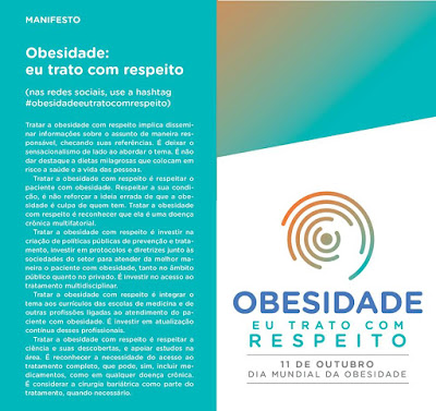 Obesidade - 11 de Outubro é Dia Nacional de Prevenção da Obesidade