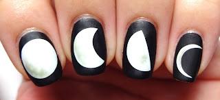 Matte Moon Nails