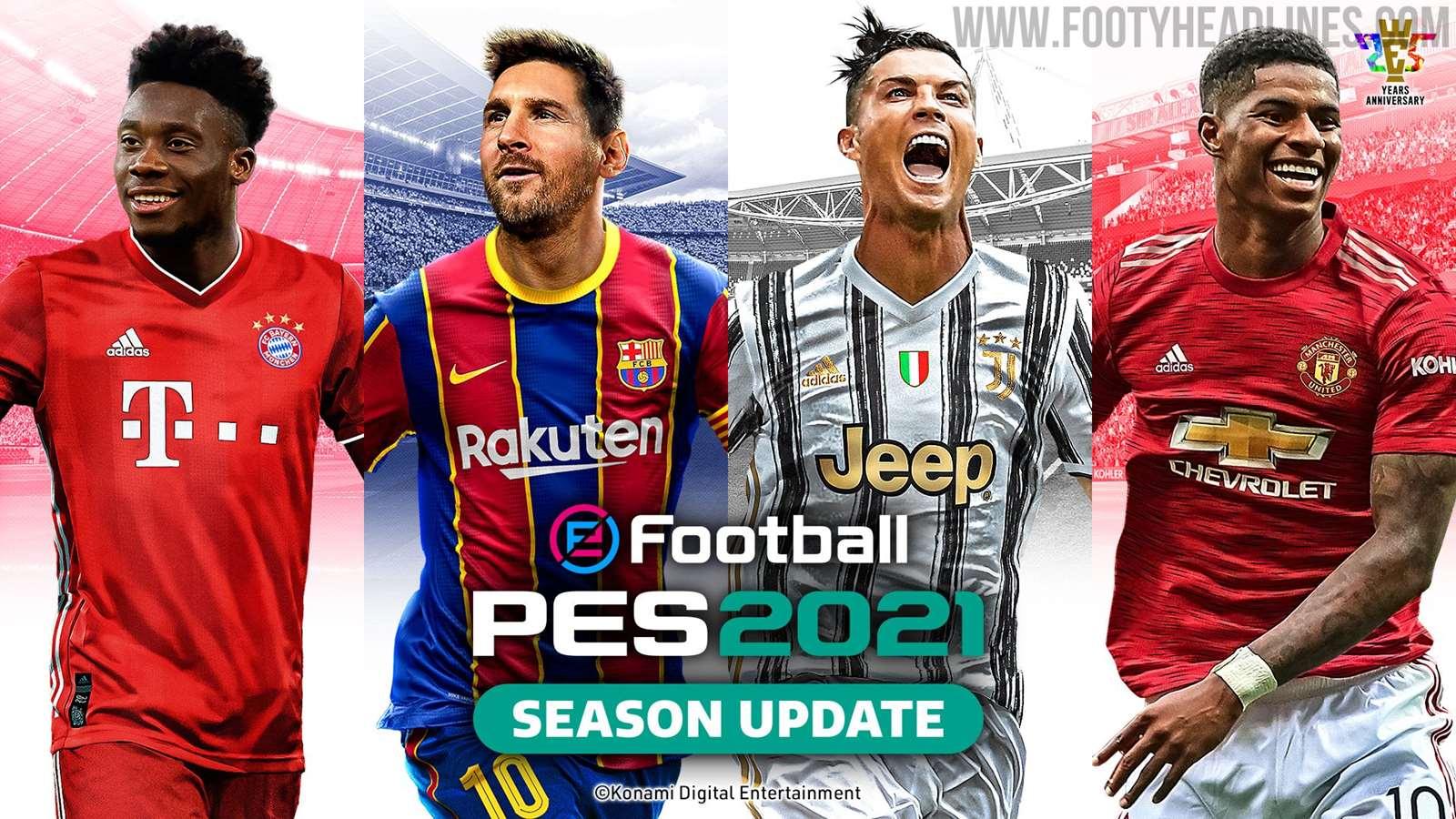 Messi Ronaldo Pes 2021 Cover Revealed Footy Headlines