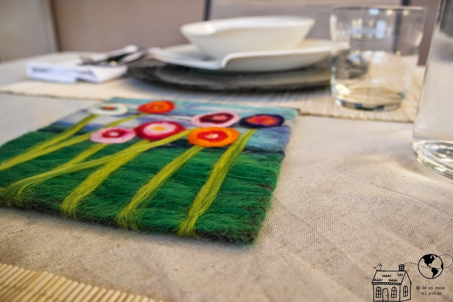 salvamanteles diy lana tapiz