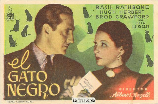 El Gato Negro - Programa de Cine - Basil Rathbone - Bela Lugosi