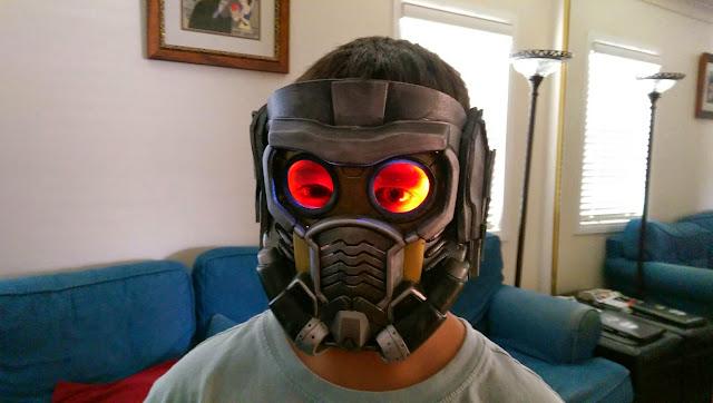 Guardians of the Galaxy Star Lord helmet project