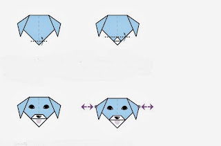 Elişi Kağıttan Gülen Köpek Yapımı Resimli Anlatım 2
