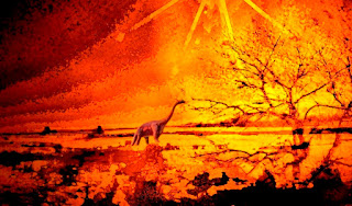 Mars' Volcanoes, Earth's Dinosaurs Went Extinct at Same Time